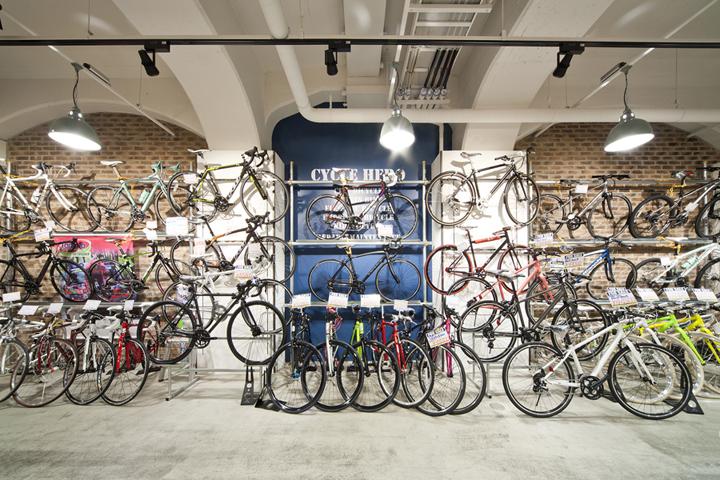 日本大阪CycleHERO 自行车店设计