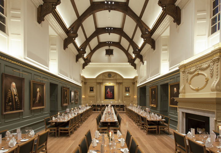 Dining Hall, Trinity Hall lighting design by Hoare Lea ...