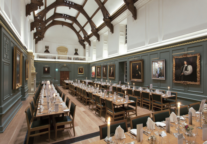 Dining hall trinity hall lighting design by hoare lea for Dining hall design