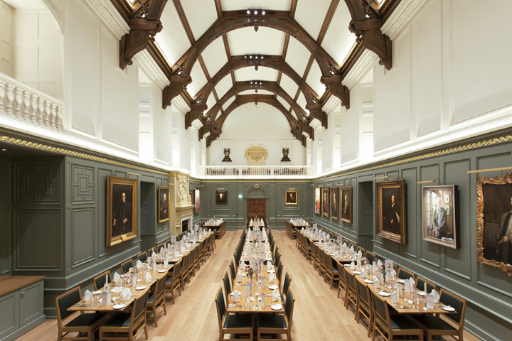 Dining Hall Trinity Lighting Design By Hoare Lea Cambridge UK