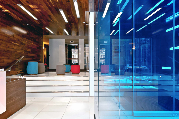 Hotel trylon entrance hall by jean de lessard montreal for Hotel entrance decor