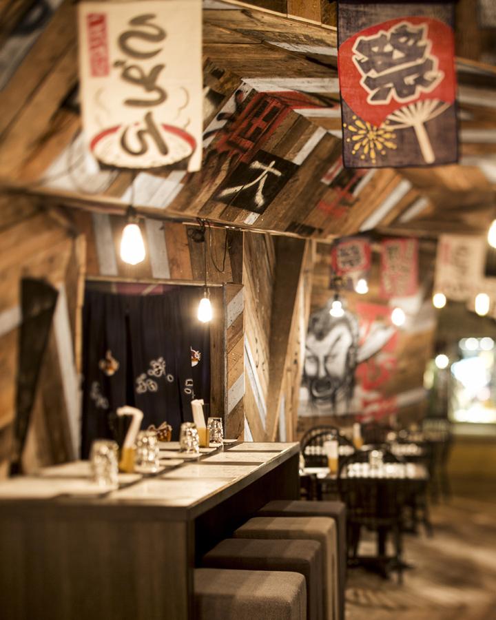 Retail design — izakaya kinoya restaurant by jean de
