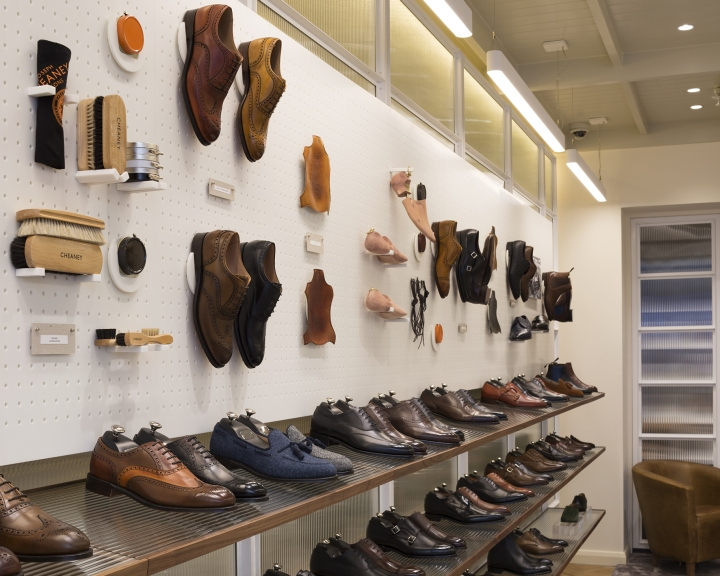 Joseph cheaney flagship store by checkland kindleysides - Men s clothing store interior design ideas ...