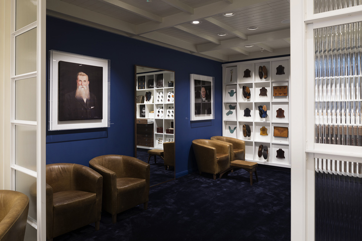 Joseph Cheaney flagship store by Checkland Kindleysides London UK Joseph Cheaney flagship store by Checkland Kindleysides, London   UK
