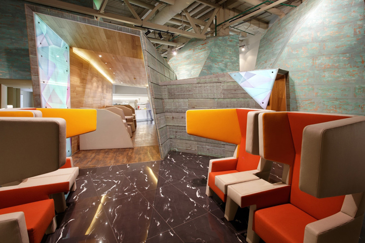 Design For The Vip Lounge At Russias Koltsovo Airport Attempts To Shake Up Monotonous Interior Space When Asked To Come Up With A Concept For