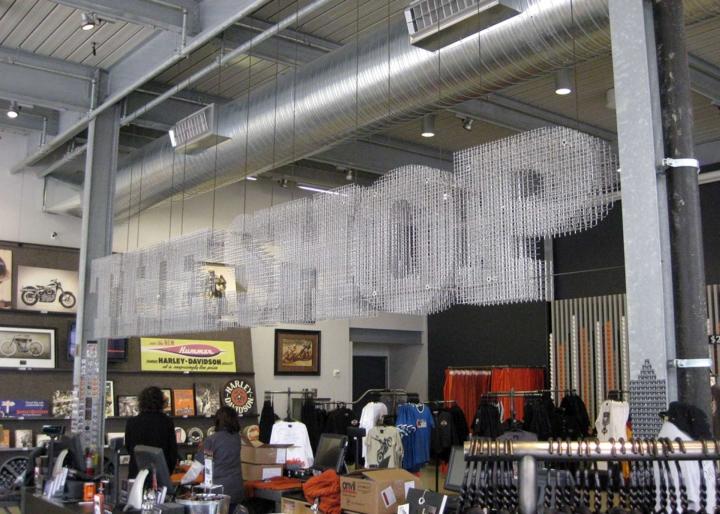 Lock Crimp Woven Wire Mesh By Banker Wire 187 Retail Design Blog