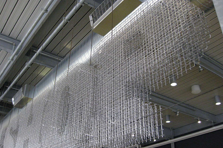 Lock crimp woven wire mesh by Banker Wire » Retail Design Blog