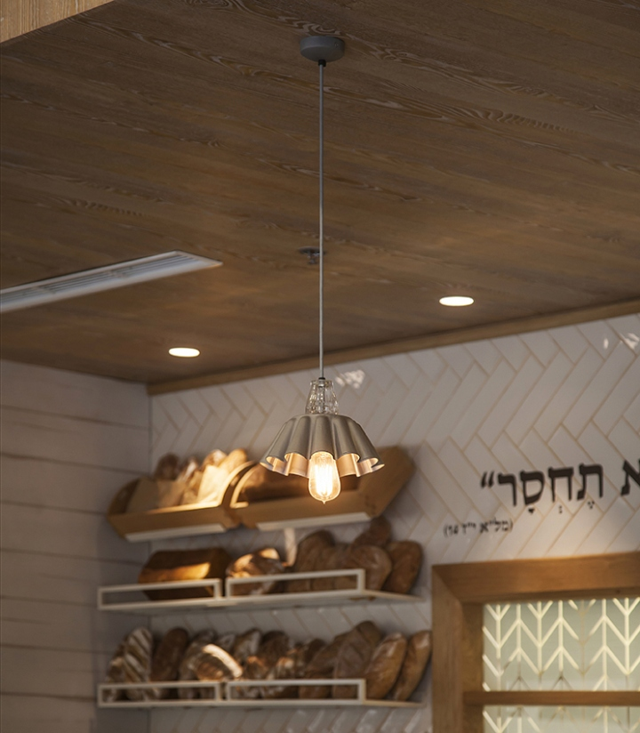 michalis bakery caf by studio yaron tal lighting design by studio beam modiin israel cafe lighting design