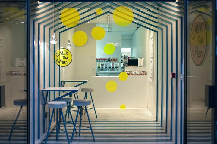 英国伦敦-Milk Tea & Pearl 奶茶和珍珠饮品店设计