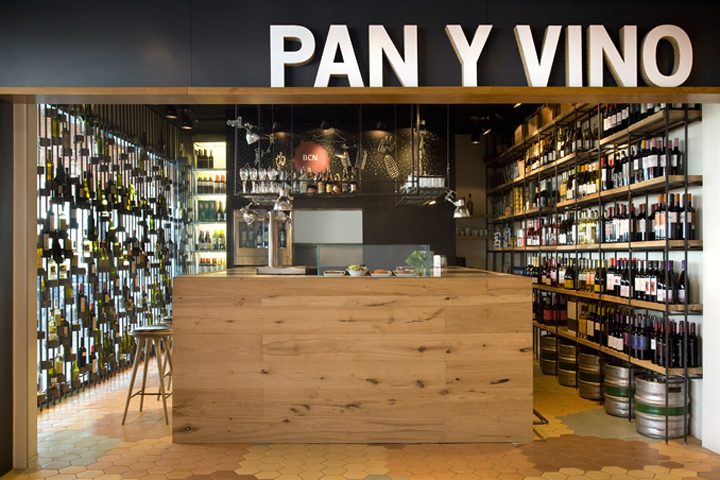 retail design blog pan y vino wine store by sandra