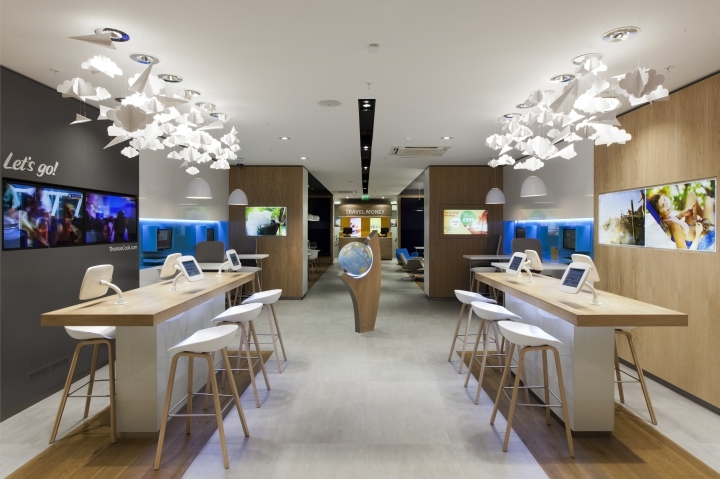 Thomas cook store at lakeside shopping centre by wanda for Interior design travel agency office