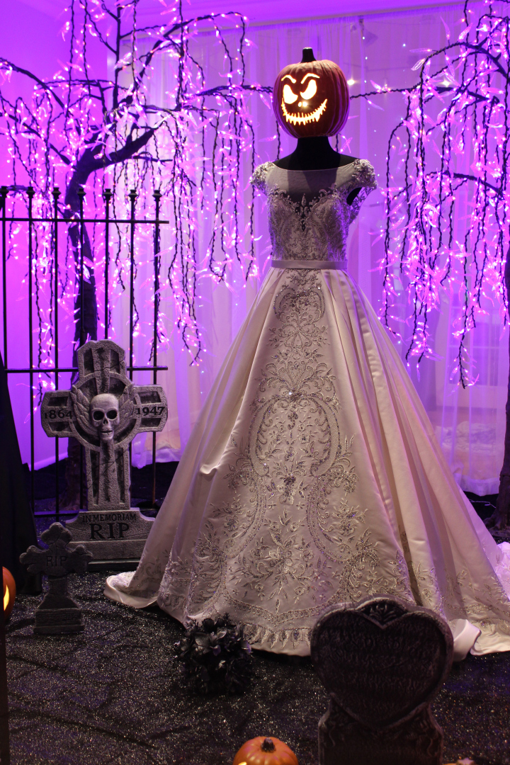 187 Alexandra S Bridal Boutique Halloween Window By Joel