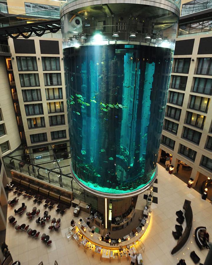 Aquadom in radisson blu hotel berlin germany retail for Top 10 design hotels berlin