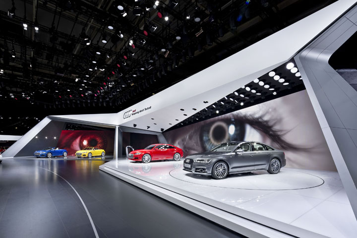 187 Audi Booth At Paris Motor Show By Kms Blackspace And