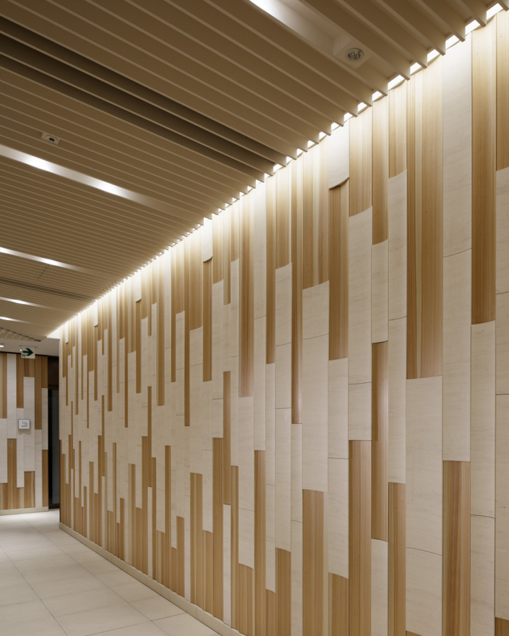 Coredo muromachi complex by a n d tokyo japan retail for Feature wall interior design