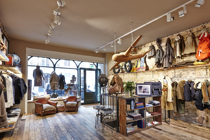 Nigel Cabourn Store London UK October 8th 2014 By Retail Design Blog