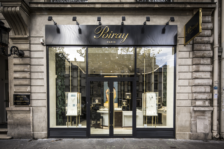 Front Elevation Of Furniture Showroom : Poiray store by centdegrés paris france