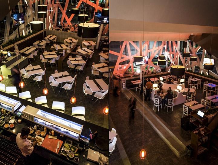 Sushi koi restaurant by grupo spazio galer as mexico for Koi restaurant los angeles