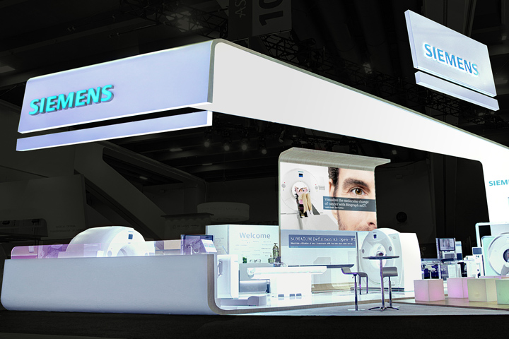 Exhibition Booth Frame : Siemens stand at astro by catalyst san francisco