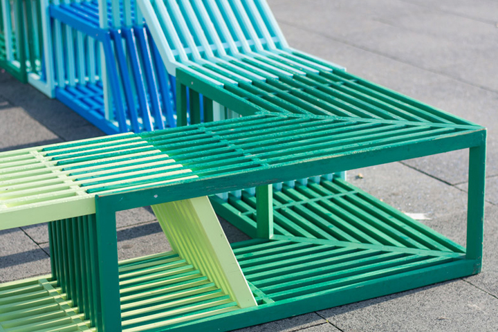 The Interlocking Modules Of This Street Furniture By Polish Designer  Izabela Bołoz Form Flexible Seating For Members Of The Public To Sit,  Recline Or Climb ...