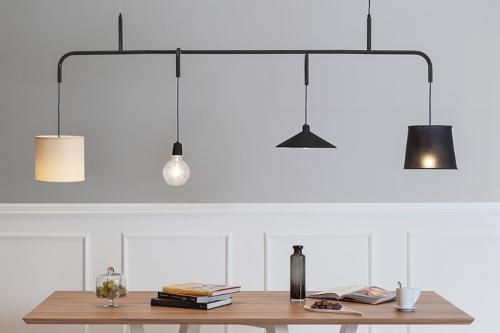 Its Unconventional Design Comes From The Rich Variety Of The Lamp Shades  Finishing, Different For Shape And Compared To The Essentiality Of The  Metal Tube ...
