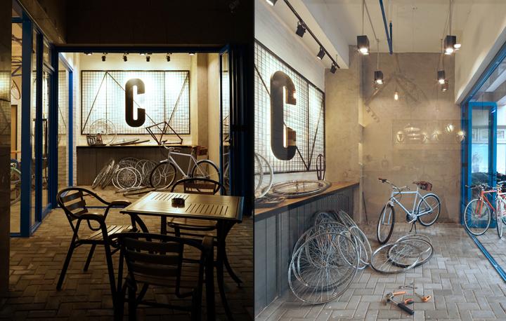 Yong jiu bike caf by kyle chan shanghai china retail for Hae yong interior designs