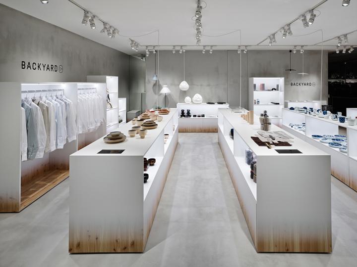 Backyard by n store by nendo yokohama japan retail for Retail interior design