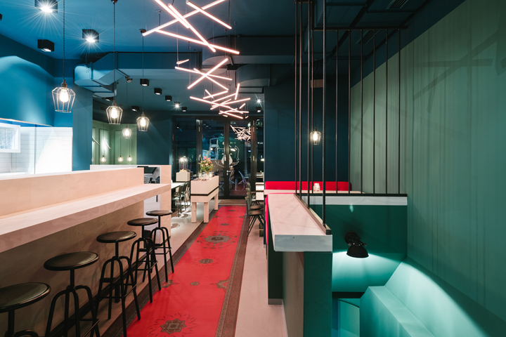 bob mary burger salad restaurant by mea studio d sseldorf germany retail design blog. Black Bedroom Furniture Sets. Home Design Ideas