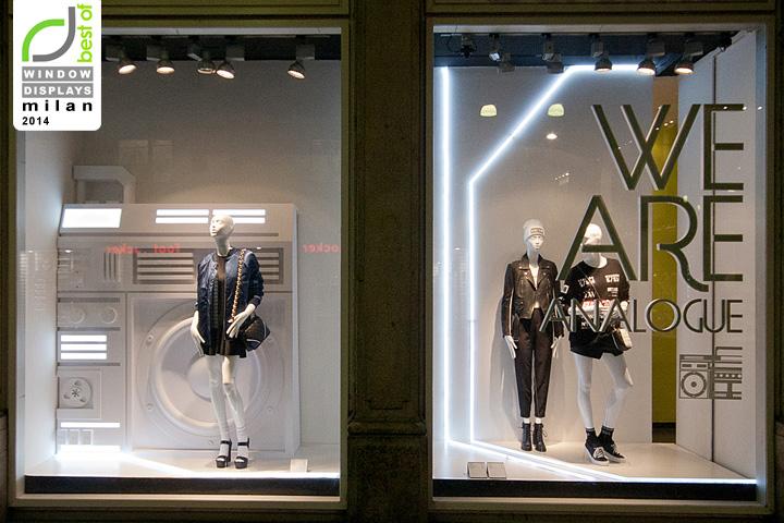 bershka fashion week windows 2014 milan italy retail. Black Bedroom Furniture Sets. Home Design Ideas