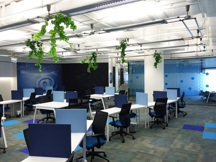 cyberport smart space office by axis design hong kong