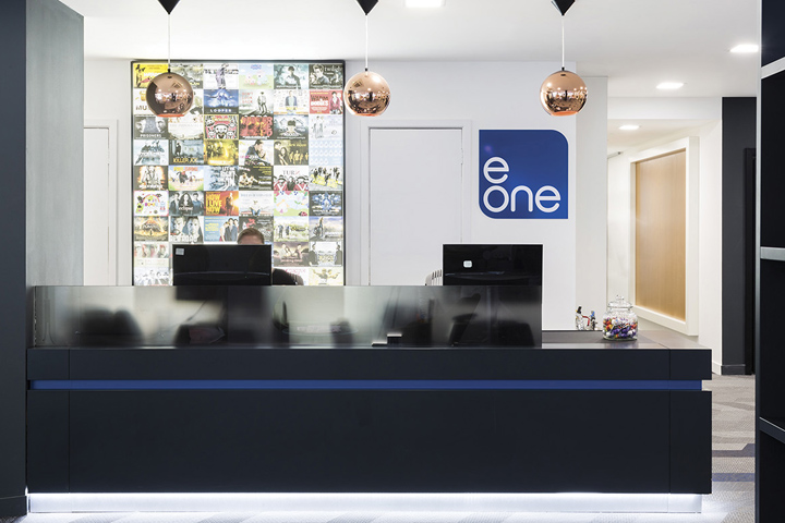 Entertainment one headquarters by the interiors group for Retail interior design agency london