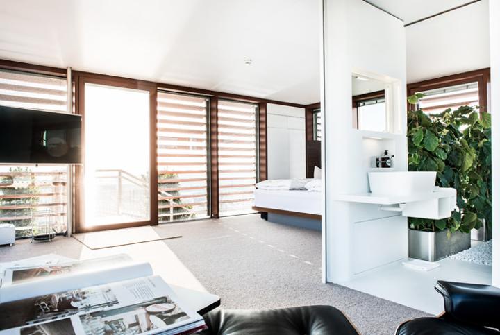 Loftcube by studio aisslinger graz austria for Cube suites istanbul