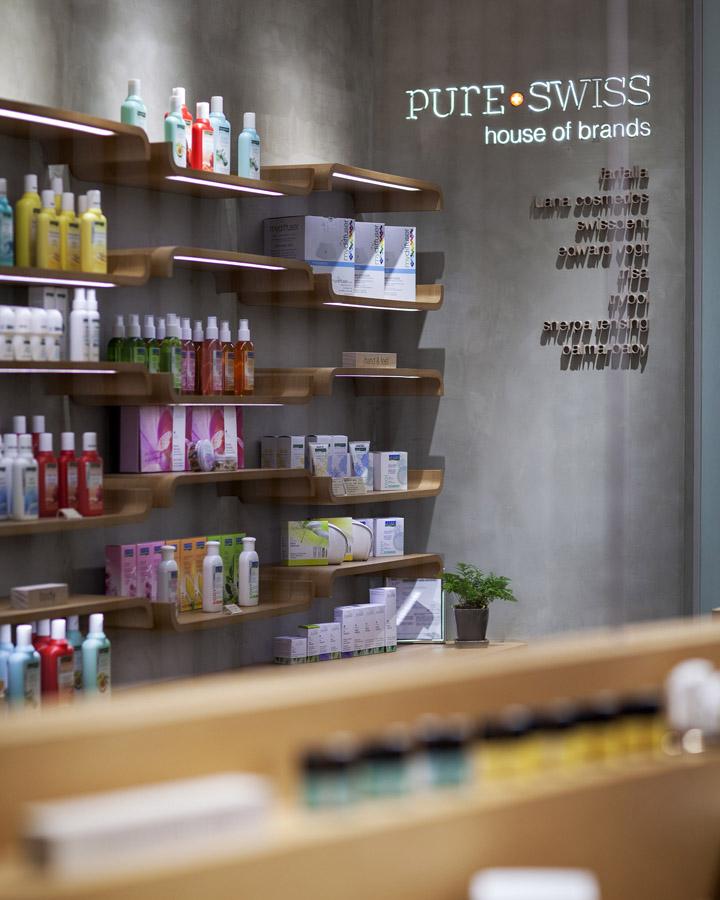 打破常规设计思路--香港Pure Swiss 化妆品店设计