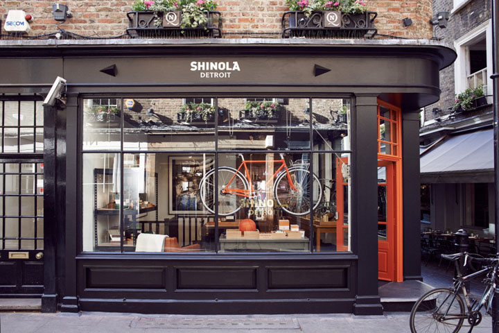 Shinola flagship store london uk retail design blog for Retail design companies london