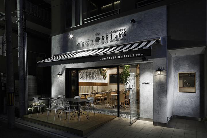 日本大阪–The Pasta & Grill's餐厅设计