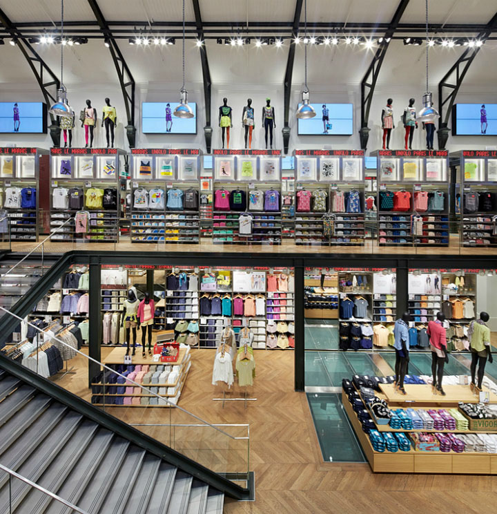 uniqlo store by wonderwall paris france retail design