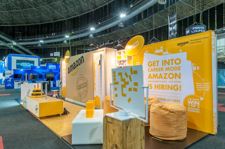Exhibition Stand Companies Johannesburg : Amazon stand at rage expo by hott d johannesburg