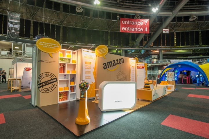 Exhibition Stand Rental Cape Town : Amazon stand at rage expo by hott d johannesburg
