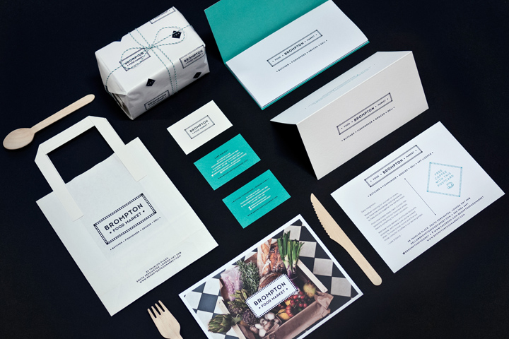 Brompton Food Market brand identity by Design Friendship Brompton Food Market brand identity by Design Friendship