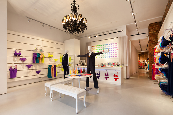 Retail design blog cosabella store by turett for High end furniture stores nyc