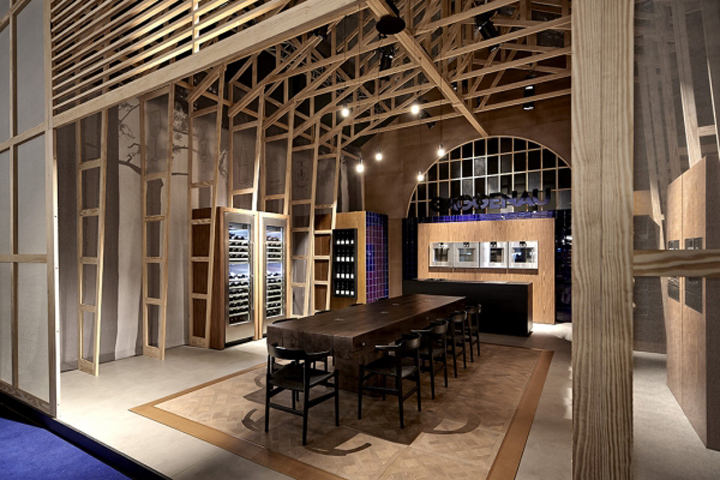 gaggenau stand at biennale interieur 2014 by creneau