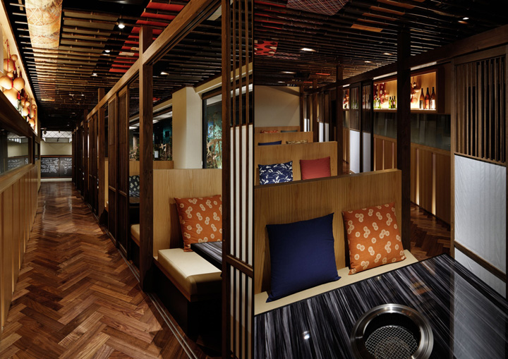 Yakiniku Restaurant Interior Design : Retail design — heijouen yakiniku restaurant by hako