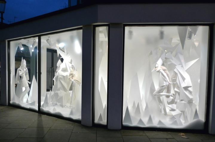 Joseph Fashion Christmas Window 2014 London Uk 187 Retail