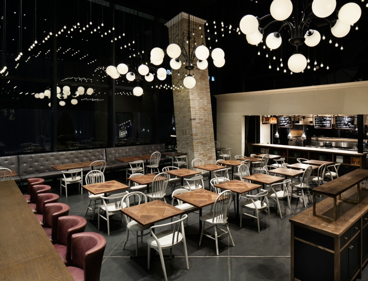 Lavarock grill and bar restaurant by hako design tokyo