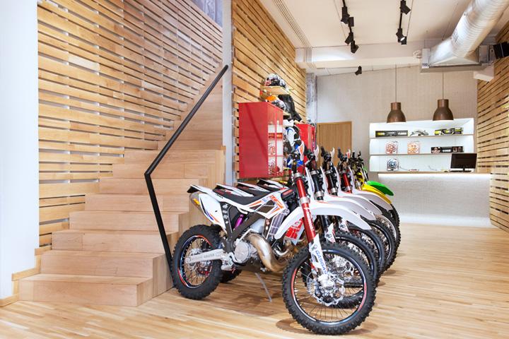 suspended ceiling panel ideas - motorbike Retail Design Blog