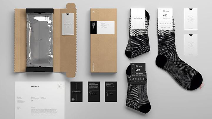 Pharmacie袜子包装设计