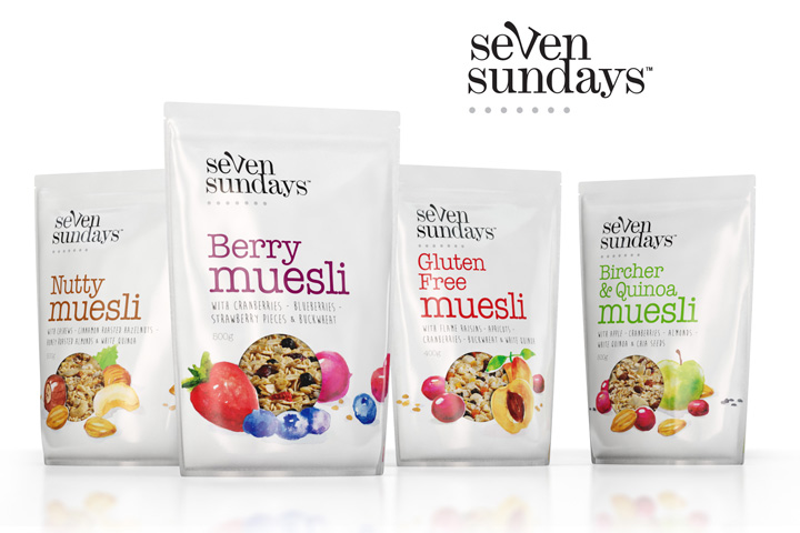 Seven Sundays Muesli branding by The Spice Agency 02 Seven Sundays Muesli branding by The Spice Agency