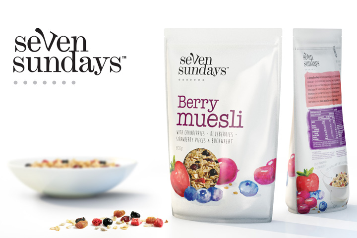 Seven Sundays Muesli branding by The Spice Agency Seven Sundays Muesli branding by The Spice Agency