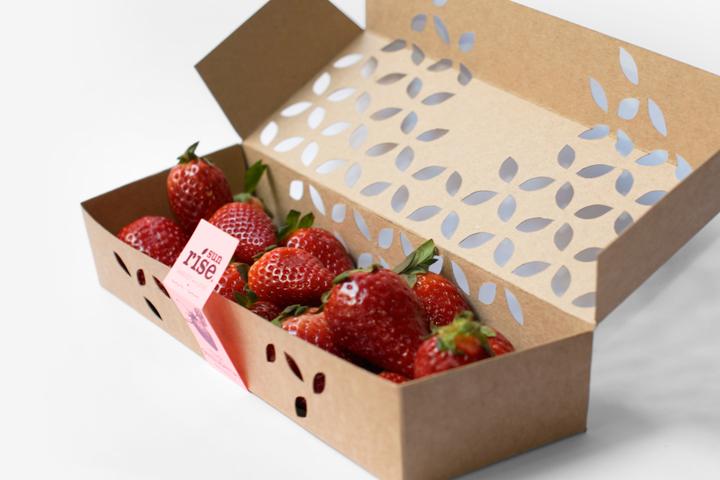 Sunrise草莓包装设计
