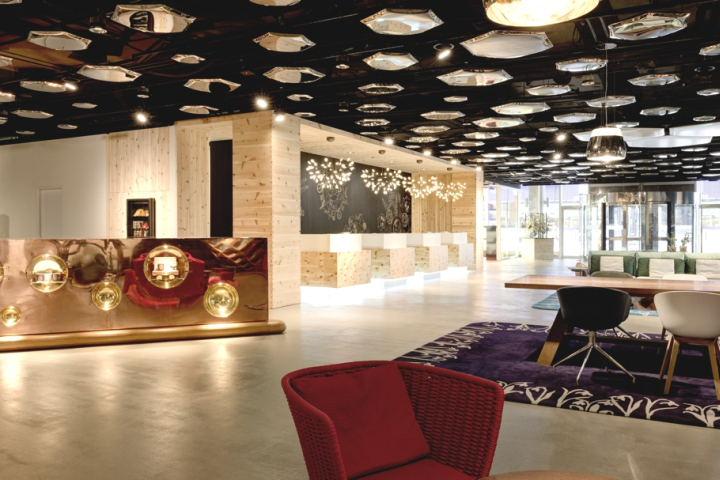 A Comfortable Homelike Atmosphere Combined With Contemporary Design Has Been Unveiled At The New Lobby Swissotel Zurich Modern Swiss Paired